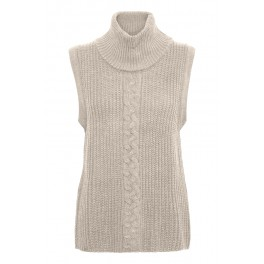 Cream pullover liivi